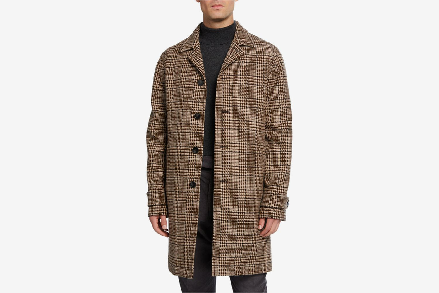 Stephane Glenn Plaid Wool Overcoat