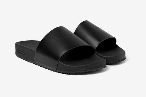 Banya Logo-Debossed Leather Slides