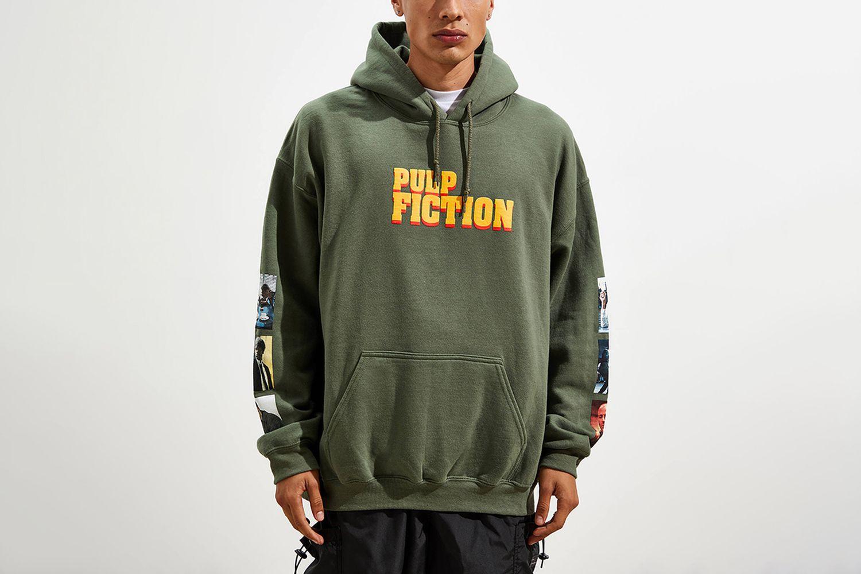 Pulp Fiction Puff Print Hoodie Sweatshirt