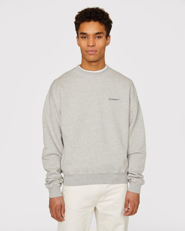 Highsnobiety Staples — Sweatshirt Grey - Image 2