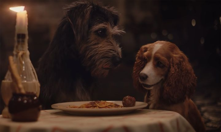 Lady and the Tramp spaghetti scene