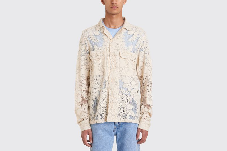 Quaker Lace Havana Shirt Ecru