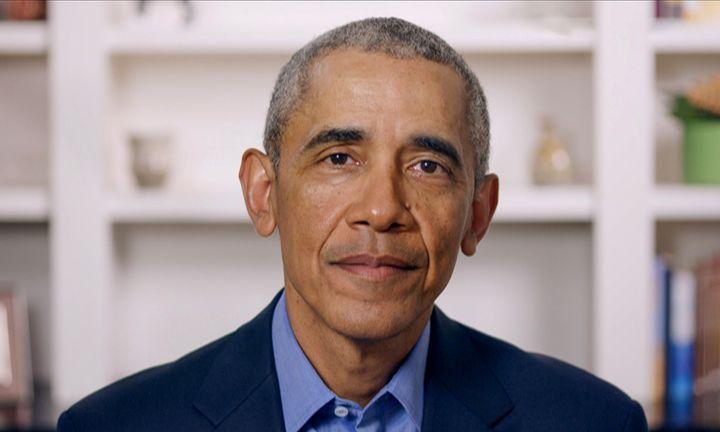 Former President Barack Obama speaks during Graduate Together