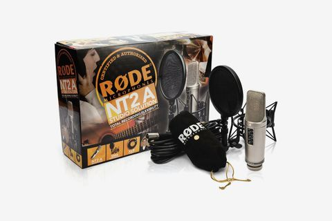 NT2-A Microphone with Primacoustic VoxGuard and Tripod Mic Stand