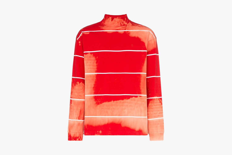 Tie-dye Turtleneck Sweatshirt