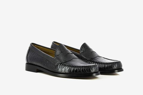 Faux Croc Loafers