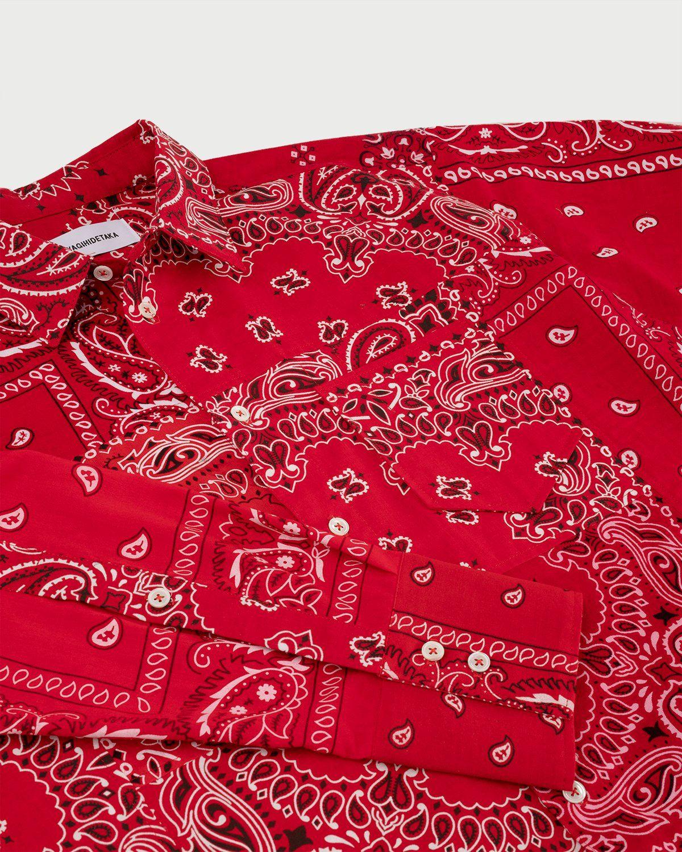 Miyagihidetaka Bandana Shirt Red  - Image 4