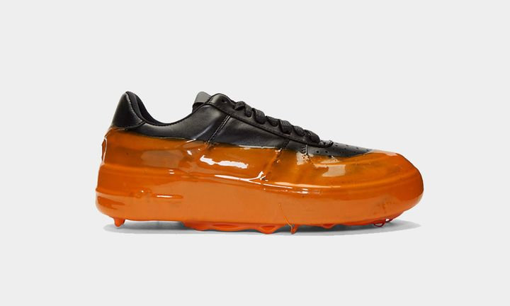 424 drip sneaker orange orange feature Eckhaus Latta Heron Preston Stone Island