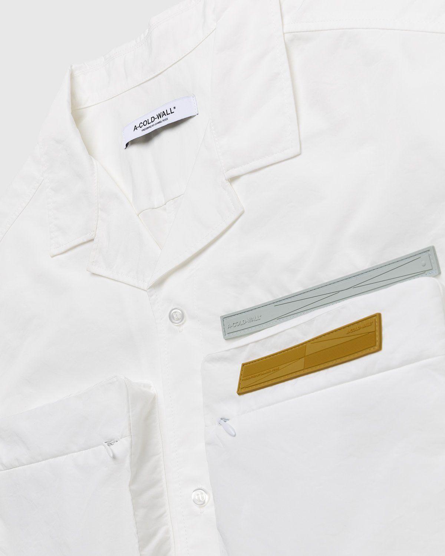 A-COLD-WALL* – Cuban Collar Shirt White - Image 3