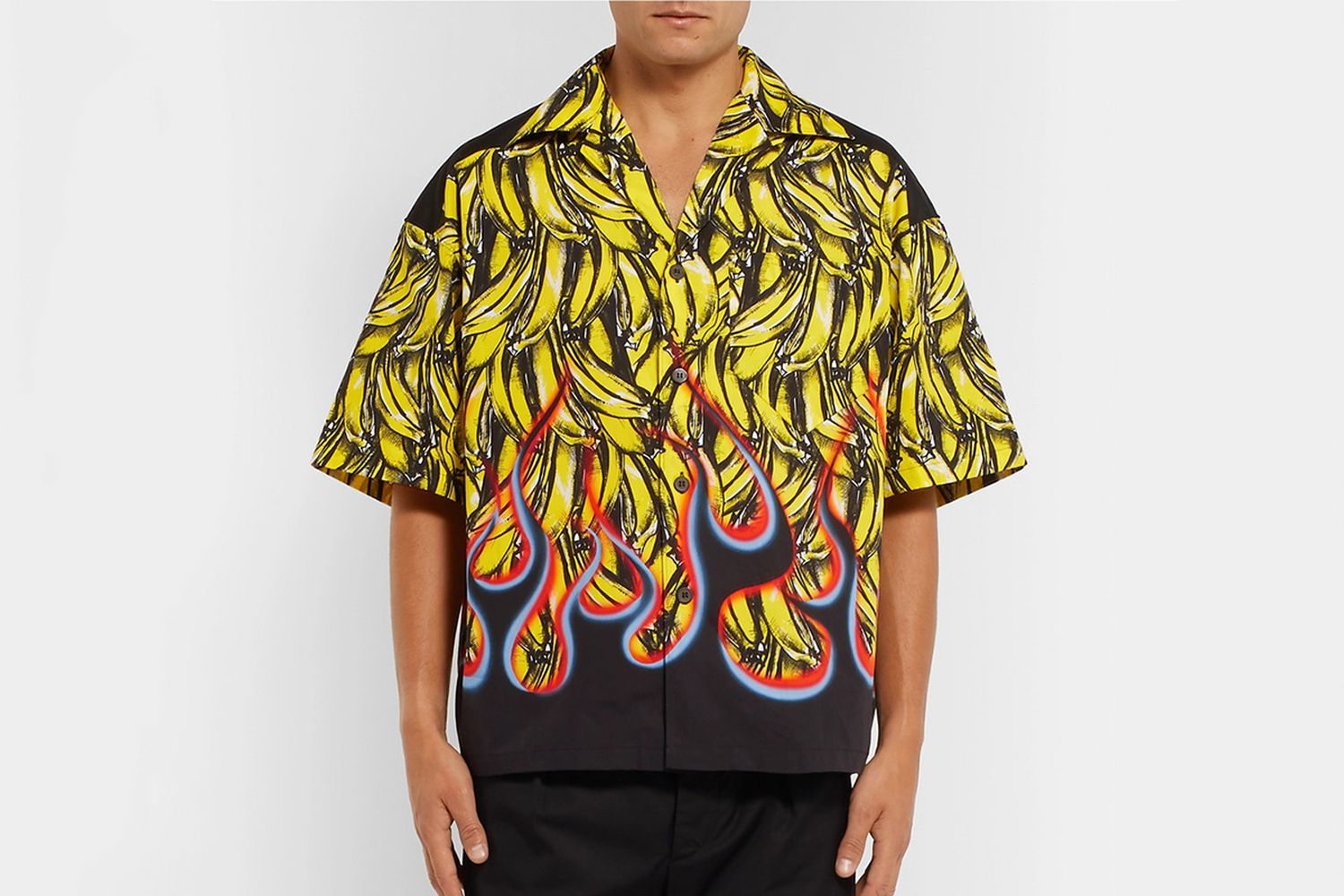 Bananas & Flames Boxy Shirt
