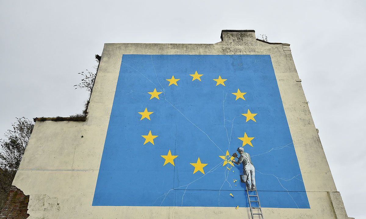 Banksy Responds After His Brexit Mural is Mysteriously Painted Over