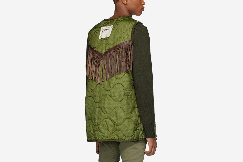 Repurposed Fringe Liner Vest