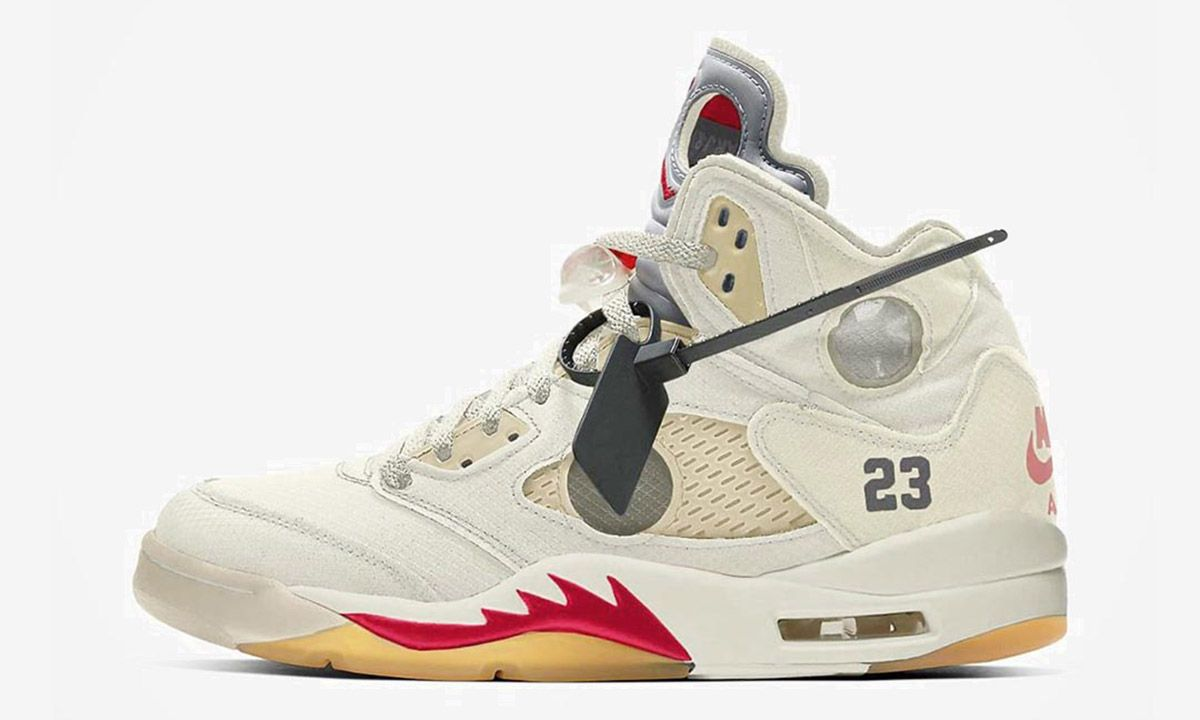 air jordan 5 off white release