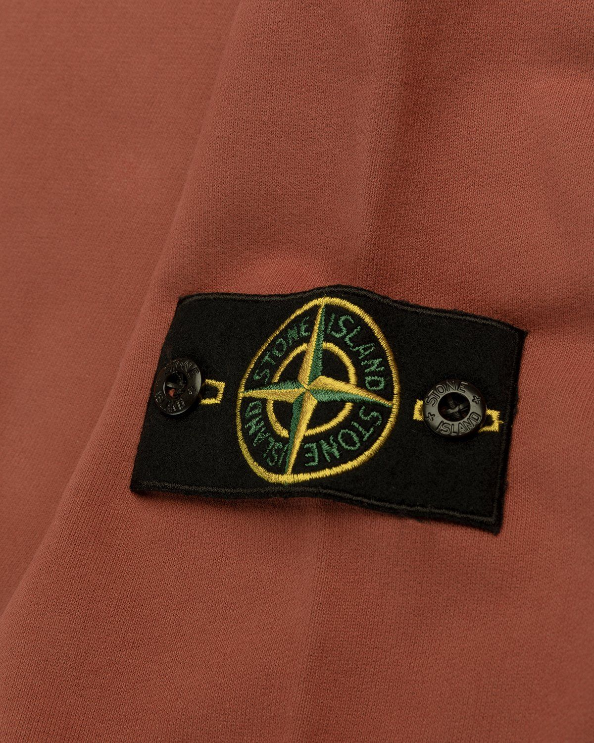 Stone Island – Dust Color Treatment Hoodie Brick Red - Image 4