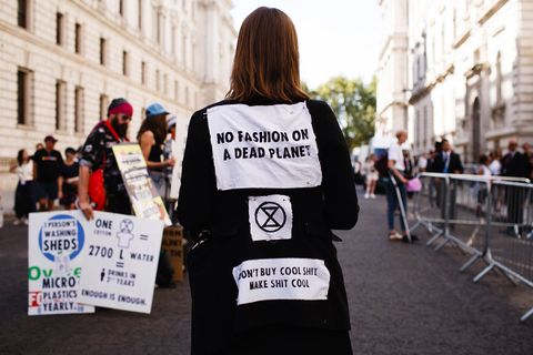 An Extinction Rebellion protestor