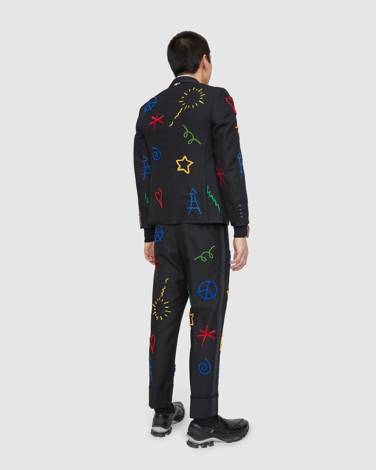 Colette Mon Amour x Thom Browne — Black Embroidered Tux Suit - Image 10