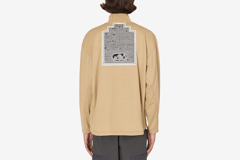 Block Fleece Half Zip Sweatshirt