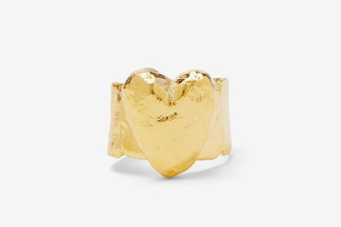 Egra Heart Gold-plated Ring