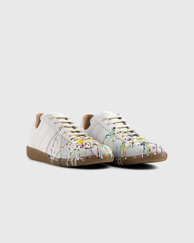 Maison Margiela – Replica Paint Drop Sneakers White - Image 2