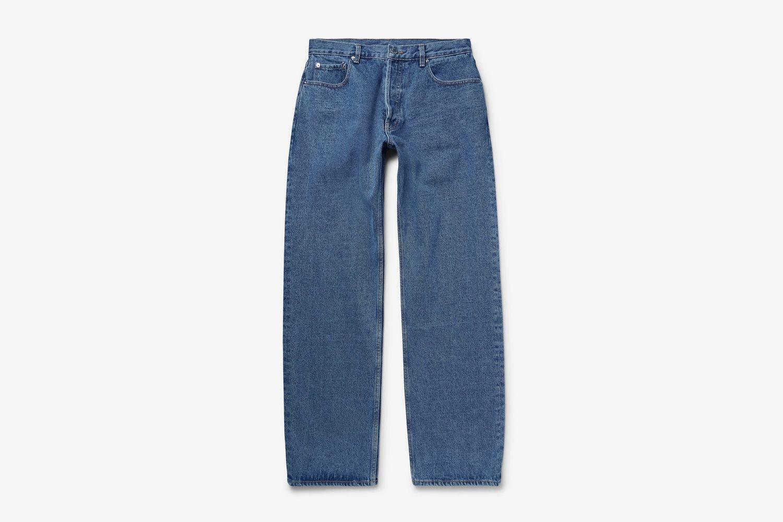 Wide-Leg Denim Jeans