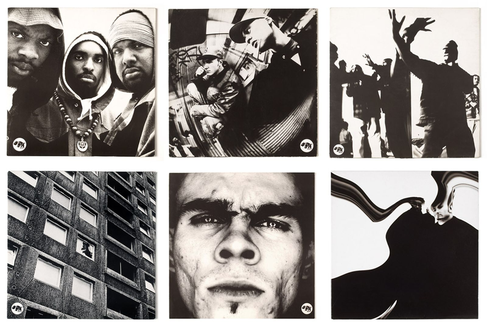 TOP ROW: BITE 05. SCIENTISTS OF SOUND - SCIENTISTS OF SOUND E.P. 1992 / BITE 06. BROTHERHOOD - WAYZ OF THE WIZE. 1992 / BITE 09. SCIENTISTS OF SOUND - BAD BOY SWING. 1995 / BOTTOM ROW: BITE 04. 100% PROOF - DIFFERENT NEIGHBOURHOOD. 1992 / BLOODT2. BROTHERHOOD - ALPHABETICAL RESPONSE. 1995