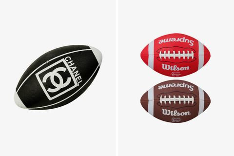 3cd93dbba6f7 Chanel scored a touchdown with its own American football before Supreme was  even on the field. The storied French fashion house released its very own  luxe ...