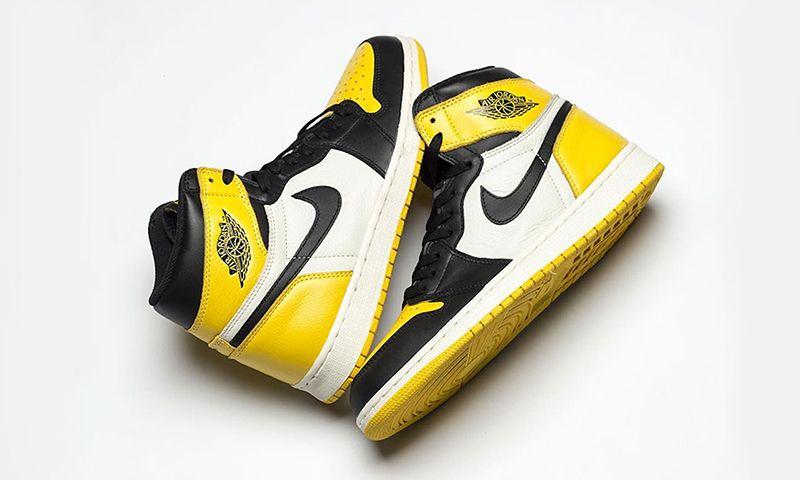 "3e445e53a9bf08 Air Jordan 1 ""Yellow Toe""  Release Date"