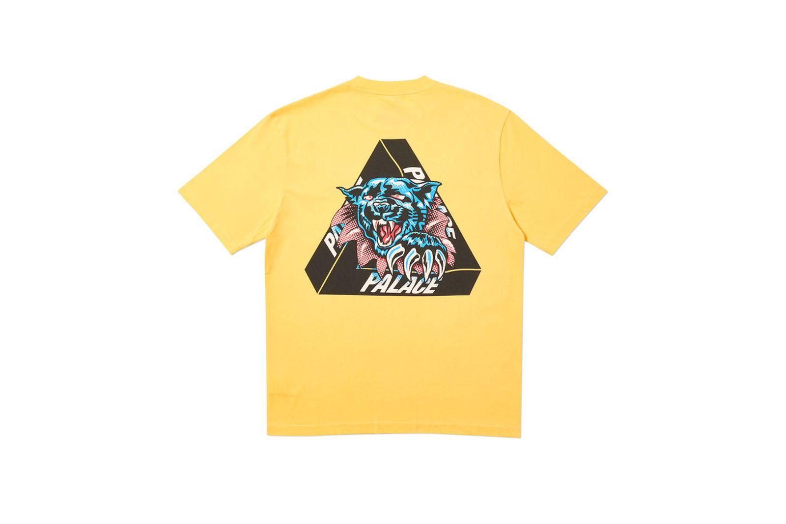 Palace 2019 Autumn T Shirt Ripped yellow back