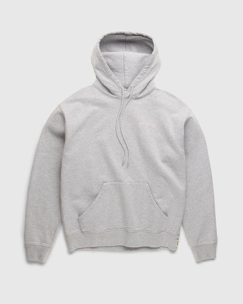 Highsnobiety – Classic Logo Fleece Hoodie Heather Grey