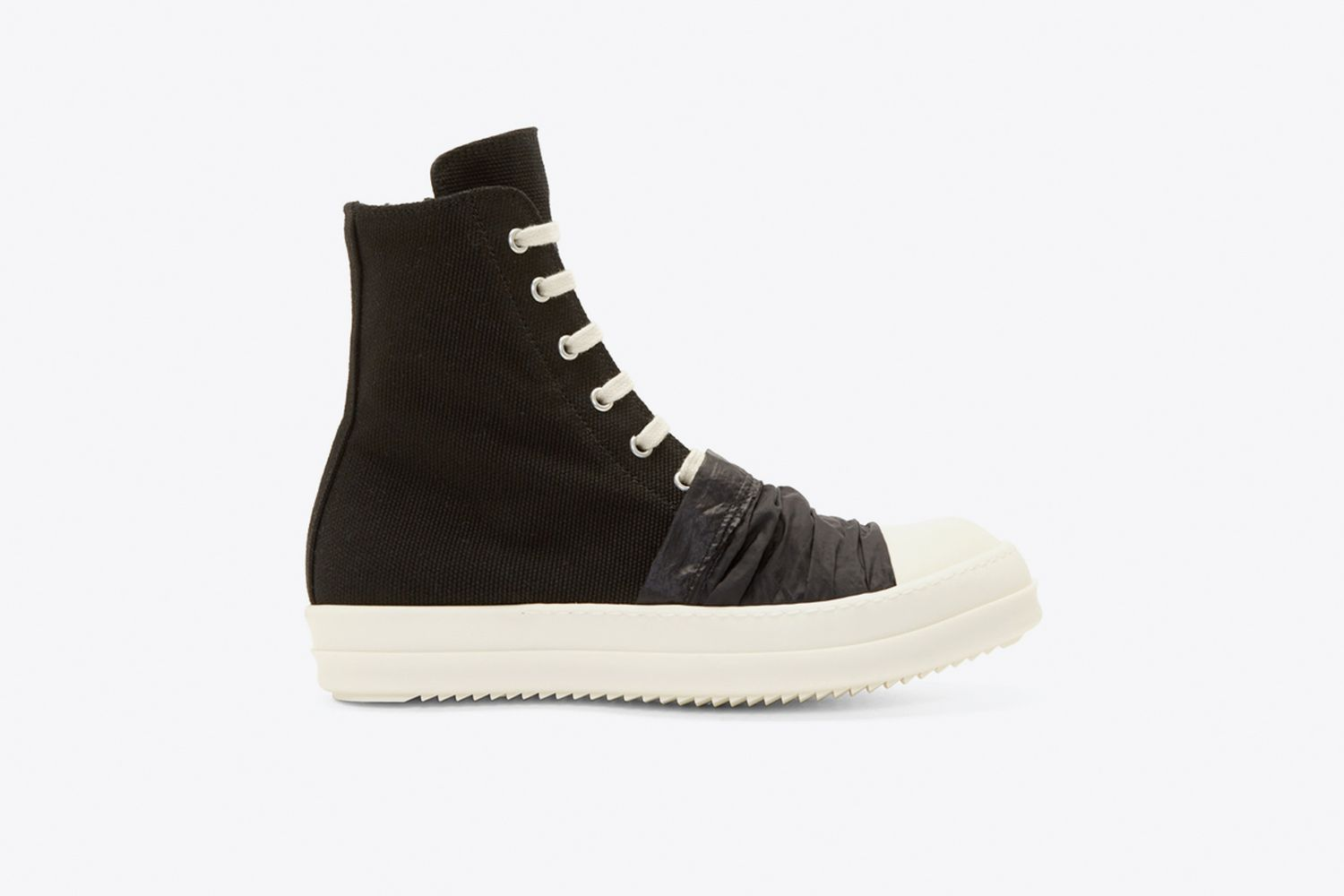 Canvas Draped Detail High-Top Sneakers