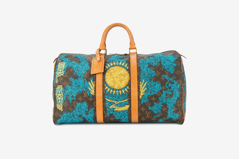 Kazakhstan Flag Vintage Louis Vuitton Keepall