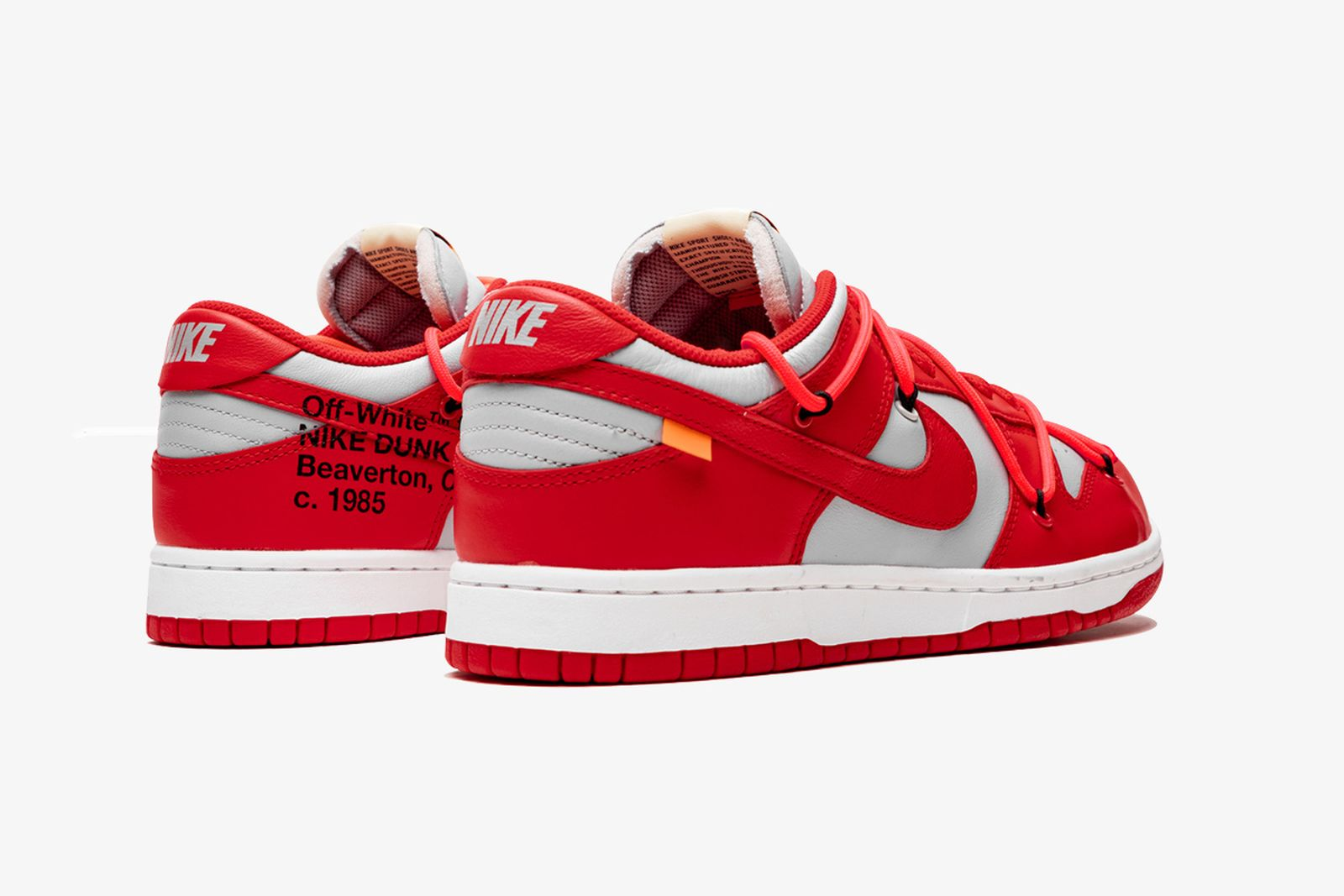 off white nike dunk low university red release date price OFF-WHITE c/o Virgil Abloh