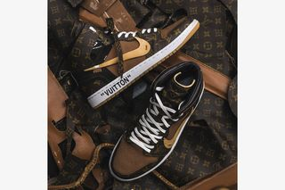 a5a2cba4ac5 These Louis Vuitton OFF–WHITE x Nike Air Jordan 1s Are Next Level