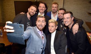 Justin Timberlake Reunites With NSYNC on 'Ellen'