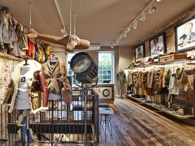 "654e55acd117 Go Inside the New Nigel Cabourn Store – ""The Army Gym"" London"