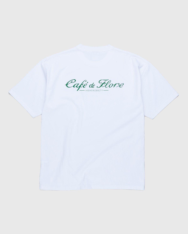 Highsnobiety — Not In Paris 3 x Café De Flore T-Shirt White - Image 2