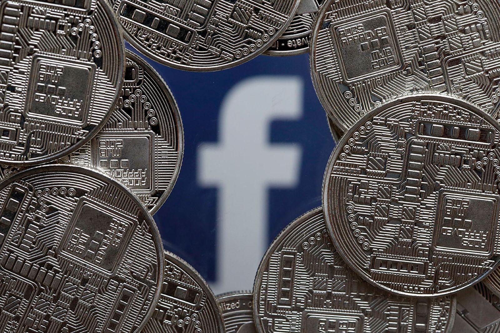 facebook logo coin frame