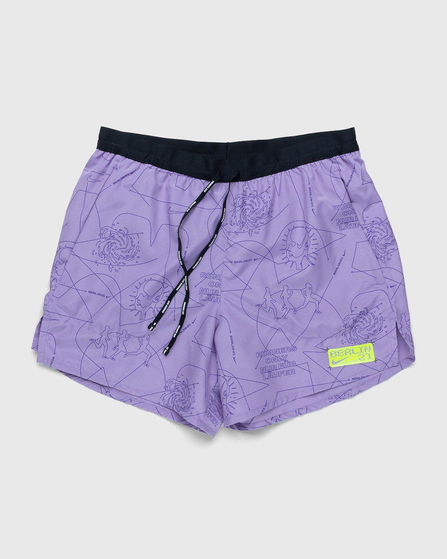 Nike x Highsnobiety – Men Dri-Fit Berlin Short Orchid Mist Black - Image 1