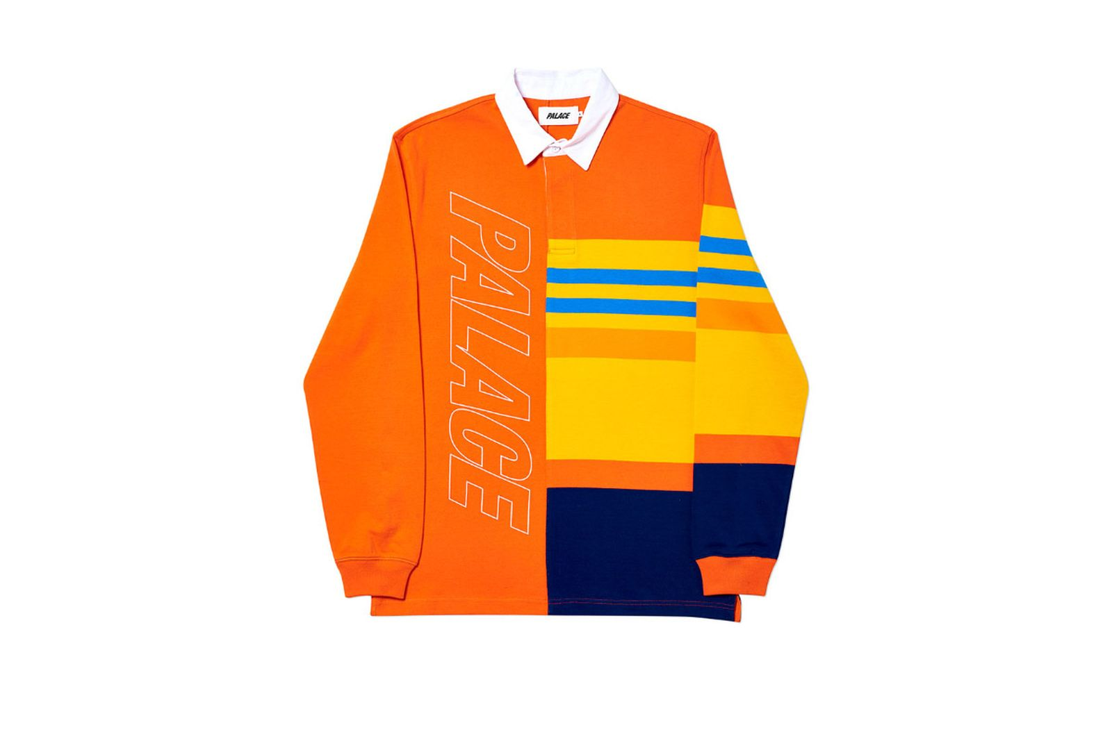 Palace 2019 Autumn Rugby orange yellow back 2081 ADJUSTED fw19