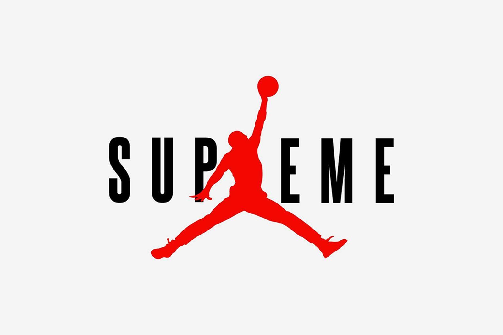 supreme x nike jordan brand jumpman logo