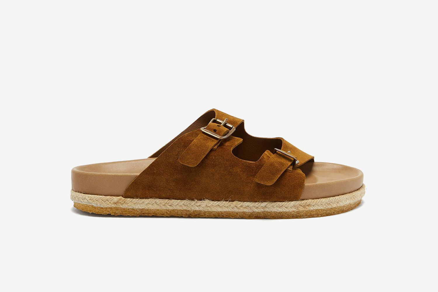 Arizonian Two-strap Suede Sandals
