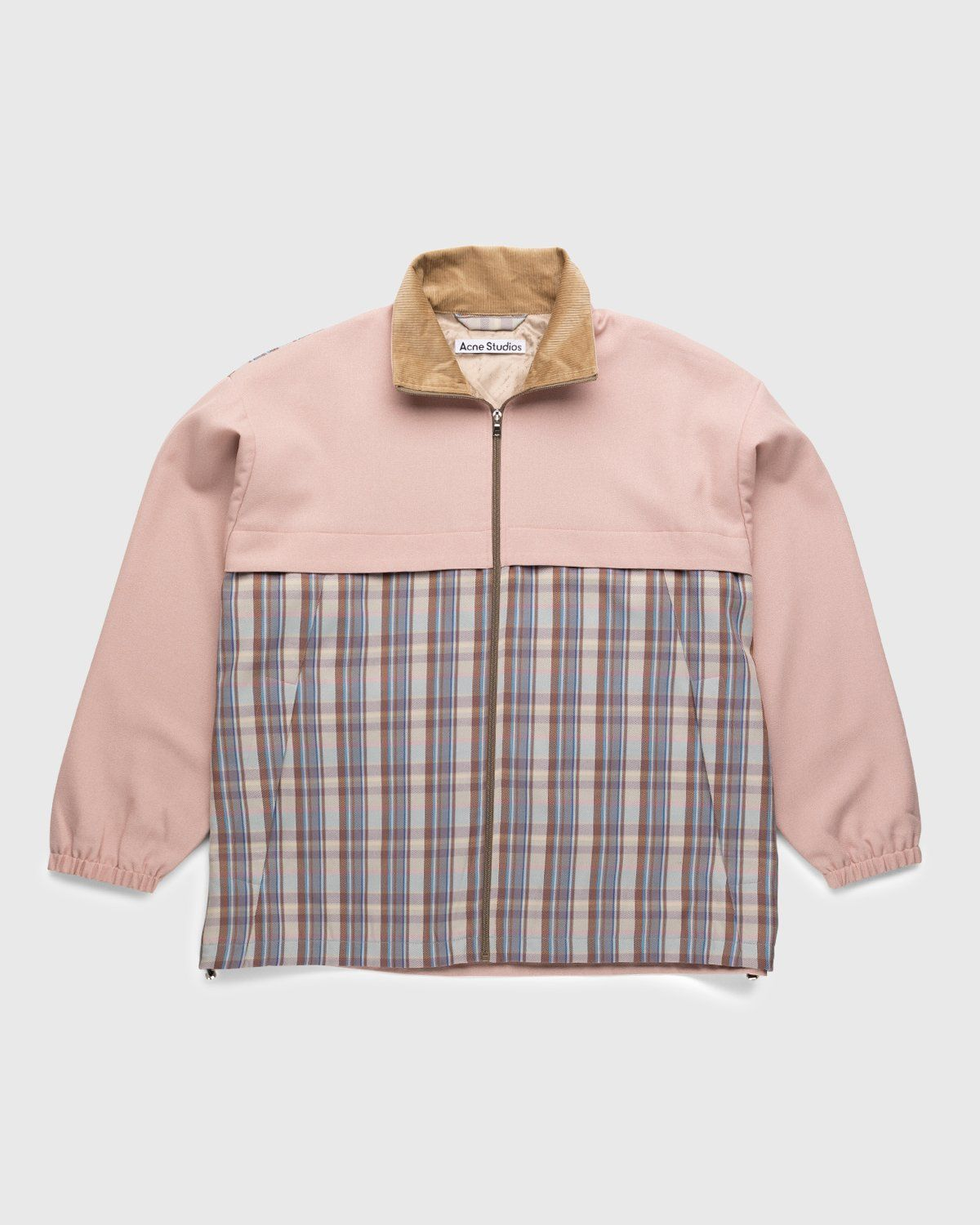 Acne Studios – Checked Twill Jacket Blossom Pink - Image 1