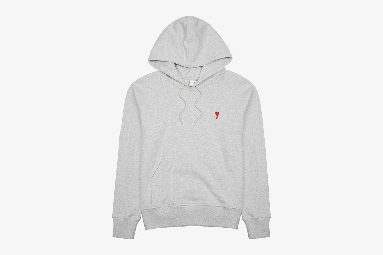 Logo-Embroidered Hooded Cotton Sweatshirt