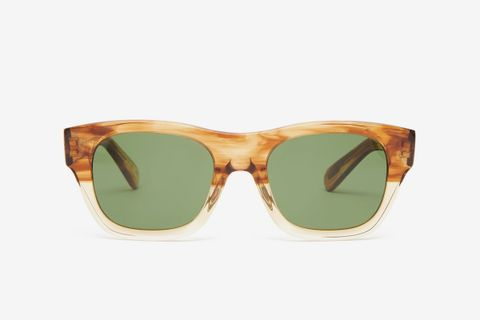 Keenan Square Tortoiseshell-Acetate Sunglasses