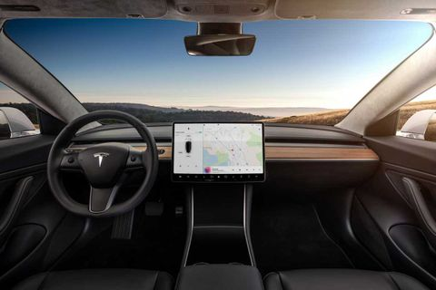 Tesla's Model 3 interior (even the steering wheel) is now 100% leather