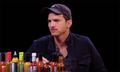 Ashton Kutcher Reveals He Just Threw Away All His Trucker Hats on 'Hot Ones'
