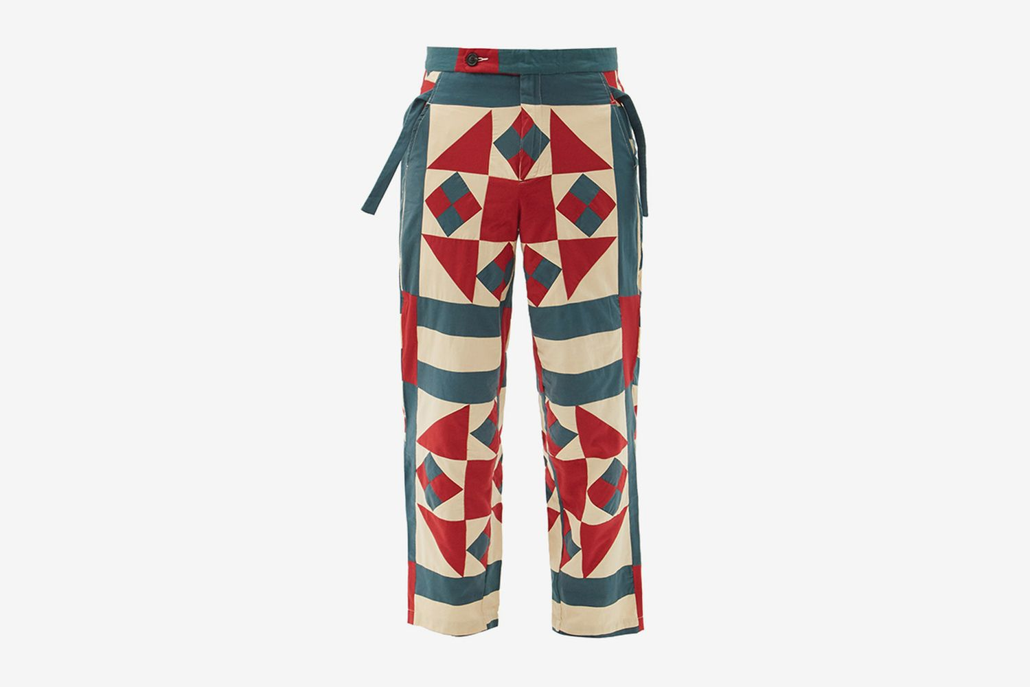 Vina Pinwheel-Quilted Cotton Trousers