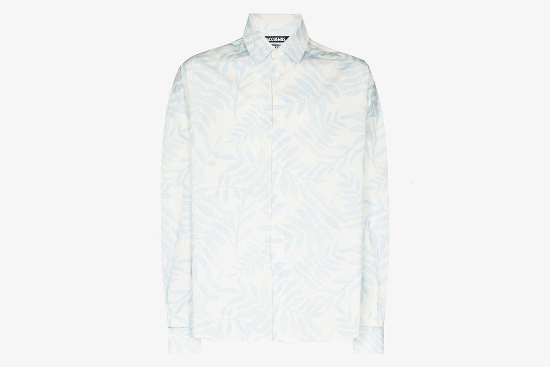 La Chemise Santon Leaf Print Shirt