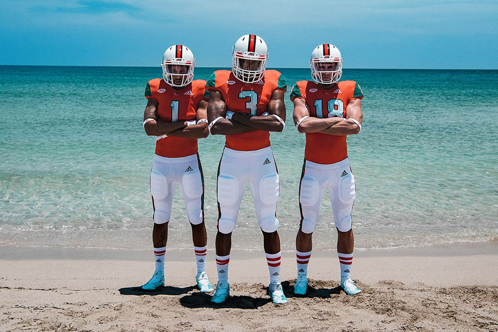 university of miami adidas parley football uniforms parley for the oceans