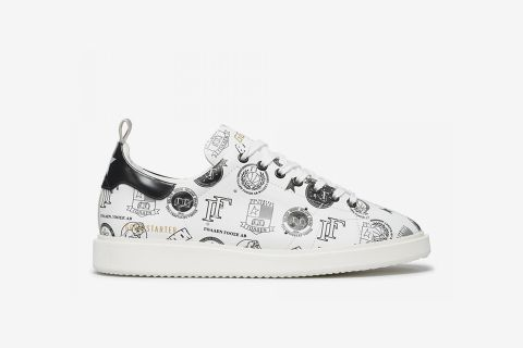 Patches Leather Sneakers